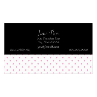 Design cor-de-rosa e branco doce do teste padrão cartão de visita