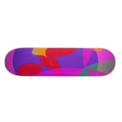 Design cor-de-rosa psicadélico original skate personalizado