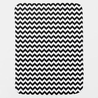 Design corajoso clássico preto e branco de Chevron Cobertorzinho Para Bebe