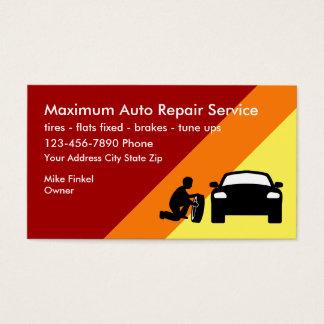 Design corajoso moderno da reparação de automóveis cartão de visitas