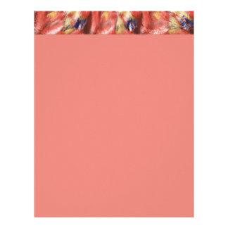 Design coral do respingo papel de carta