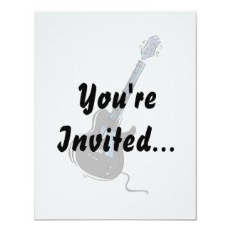 design cortante black.png da música da guitarra convite 10.79 x 13.97cm