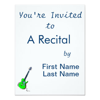 design cortante green.png da música da guitarra convites personalizados