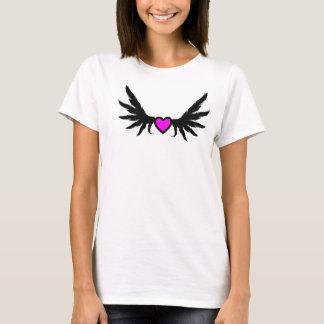 Design customizável da decoração do coração camiseta