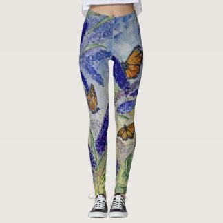 Design da aguarela da borboleta por todo o lado em leggings