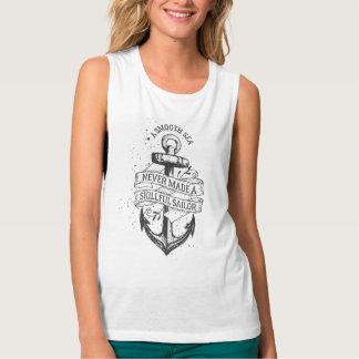 Design da âncora do vintage com a camisa das