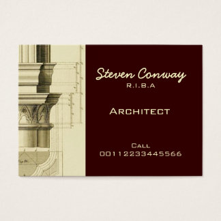 Design da arquitetura gótico do ~ do arquiteto cartão de visitas