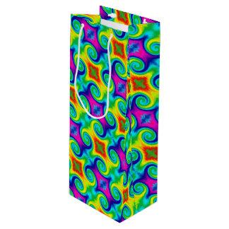 Design da arte abstracta do redemoinho do sacola para vinho