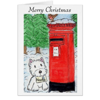 Design da arte de Watecolour do cartão de Natal de