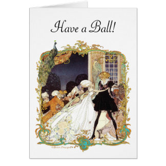 Design da arte do estilo do vintage da bola de cartão comemorativo
