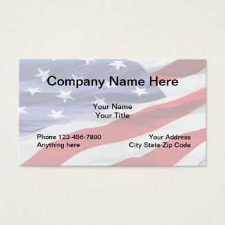 Design da bandeira americana cartão de visitas