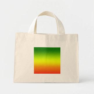Design da bandeira do arco-íris da reggae bolsas de lona