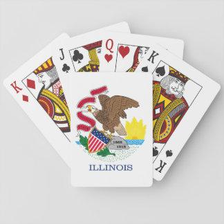 Design da bandeira do estado de Illinois Cartas De Baralho