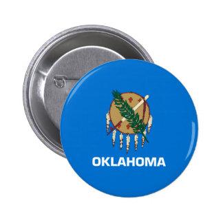 Design da bandeira do estado de Oklahoma Bóton Redondo 5.08cm