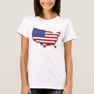 Design da bandeira do mapa de América Camiseta
