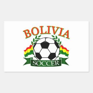 Design da bola de futebol de Bolívia Adesivo Retangular