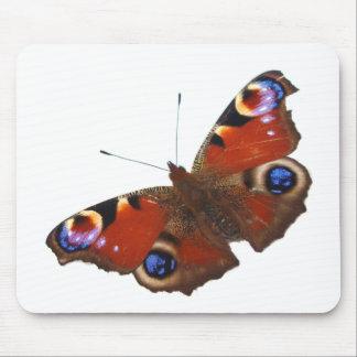 Design da borboleta de pavão mouse pad