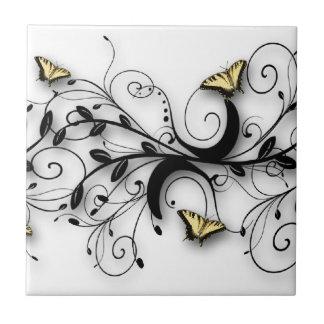 Design da borboleta de Swallowtail Azulejo