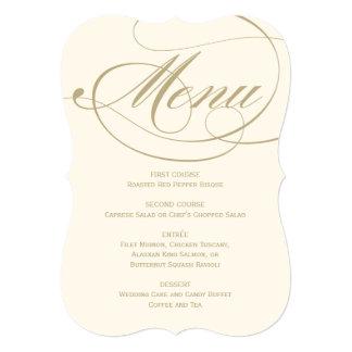 Design da caligrafia do ouro do cartão | do menu