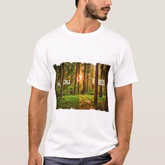 Design da camisa da floresta t