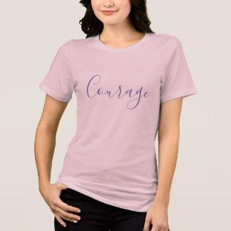 Design da camisa do t-shirt da coragem