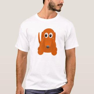 Design da camiseta de cão da salsicha