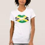 Design da camisola de alças dos lábios de Jamaica  T-shirts
