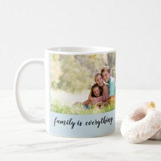 Design da caneca da foto de família