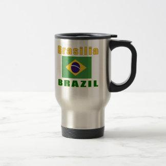 Design da capital de Brasília Brasil Canecas