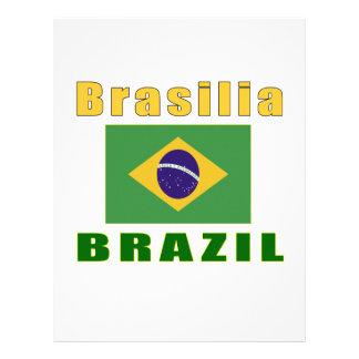 Design da capital de Brasília Brasil Papeis De Carta Personalizados