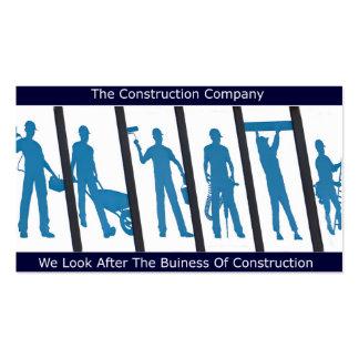 Design da construção para o cartão de visita