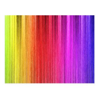 Design da cortina do arco-íris cartão postal
