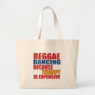 Design da dança da reggae bolsa tote grande