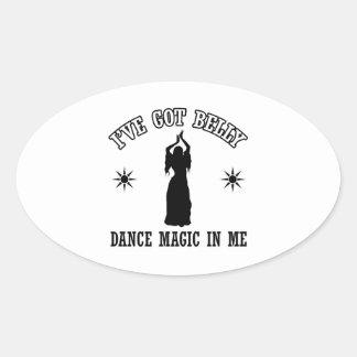 design da dança de barriga adesivo oval