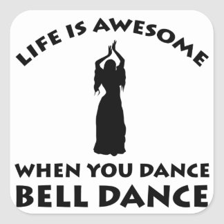 design da dança de barriga adesivo quadrado