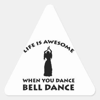 design da dança de barriga adesivo triangular