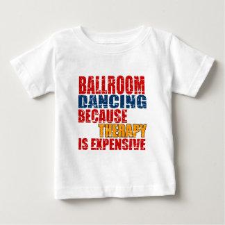 Design da dança de salão de baile camiseta para bebê