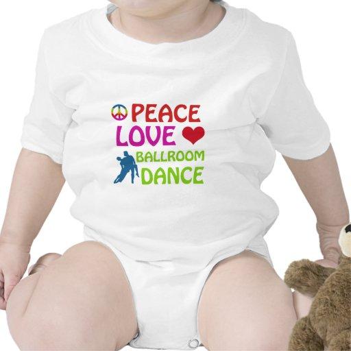 Design da dança de salão de baile tshirts