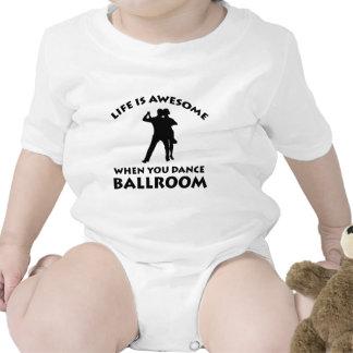 Design da dança de salão de baile macacãozinho para bebês