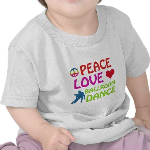 Design da dança de salão de baile camiseta