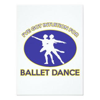 design da dança do balé convites personalizado