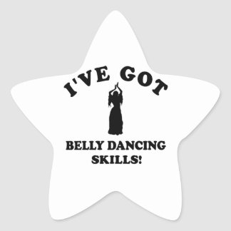 Design da dança do ventre adesito estrela