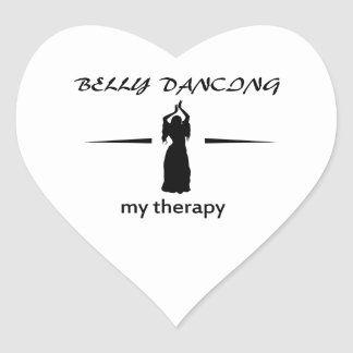 Design da dança do ventre adesivo coração