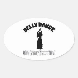 design da dança do ventre adesivo oval