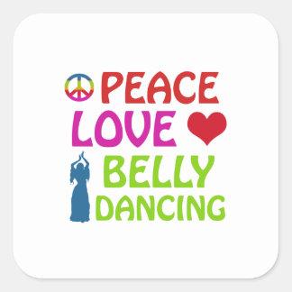 Design da dança do ventre adesivo quadrado