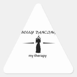 Design da dança do ventre adesivo triangular