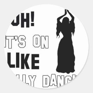 Design da dança do ventre adesivos