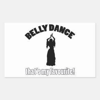 design da dança do ventre adesivo retângular