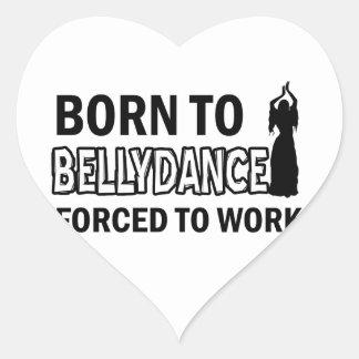 Design da dança do ventre adesivos de corações