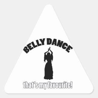 design da dança do ventre adesivos triângulo